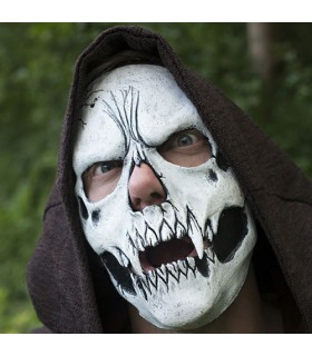 Adjustable white skull mask