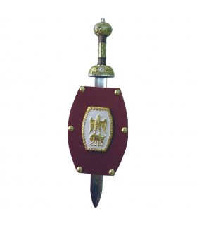 Mini-Roman shield with mini-sword