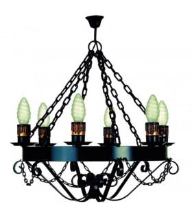 Forging lamp chains, 6 bulbs