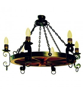 Forging lamp chains, 6 bulbs