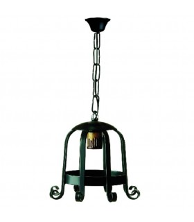 Farol medieval forge 1 light. (65x26 cm.)