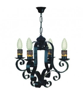 forging chain lamp, 4 bulbs