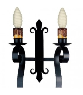 Apply wrought iron torch, 1 Light