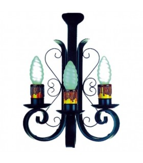Apply wrought iron candle 3 lights