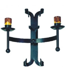 Apply rustic wrought iron, 2 lights