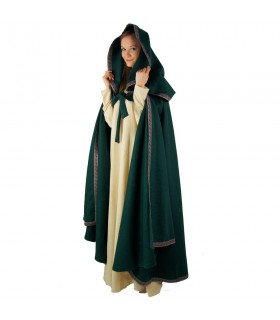 medieval red cape hooded woman