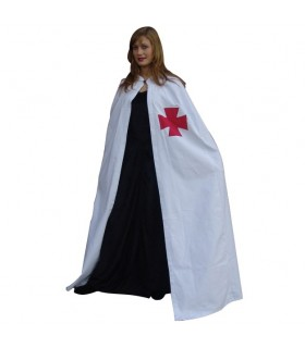 Templaria white coat with red cross