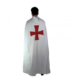 Templaria white coat with red cross back