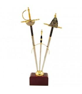September 2 mini-Renaissance swords Damascene