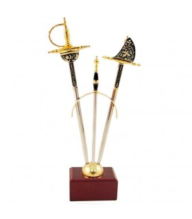 September 2 mini-Renaissance swords Damascene