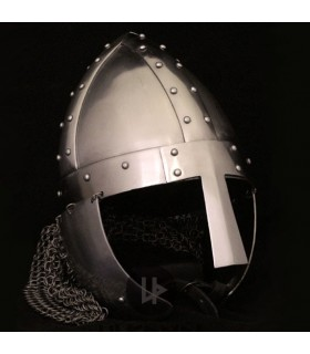 medieval helmet with visor, 1490