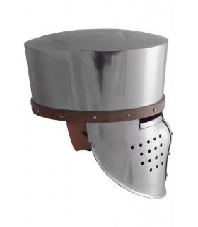 Cruzados helmet with visor Spangenhelm