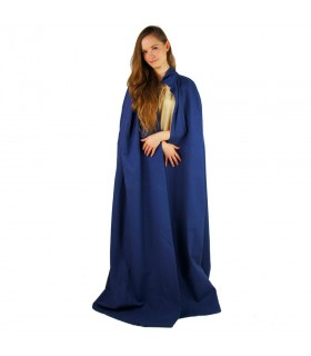 long blue medieval layer