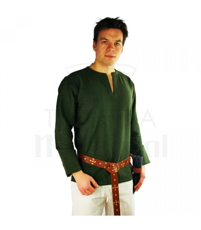 1b2cf87499d Viking tunic Ivar, green. Tunics - Costumes man - Garments. Medieval