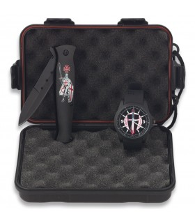 Templars knife set and watch box