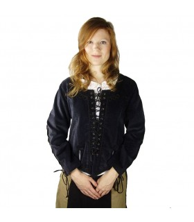 Frilly blouse medieval woman