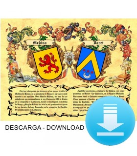 Parchment Virtual coat of arms, 2 surnames