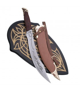 Elf knife with sheath and support