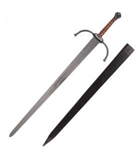 Espada medieval larga o bastarda para prácticas