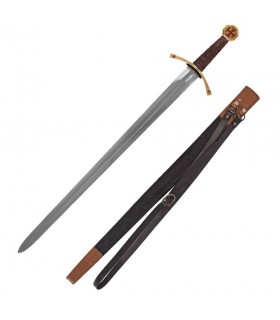 Crusader sword with scabbard