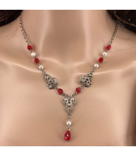 Pendant with crystal beads