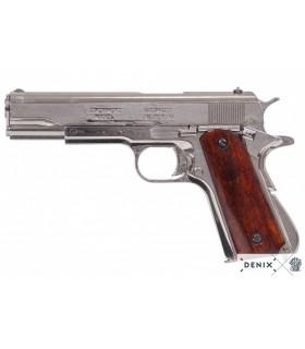 M1911 silver automatic pistol, USA, 1911