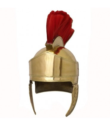 Greek helmet with plume