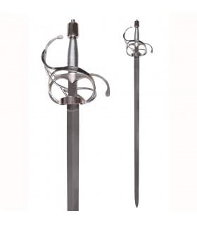 Rapier sword with broad blade