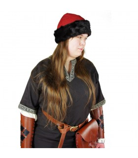 Ulf Red Viking Hat