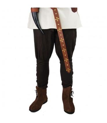 Viking trousers in brown wool