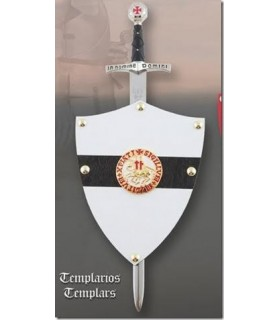 Mini-shield Knights Templar with mini-sword
