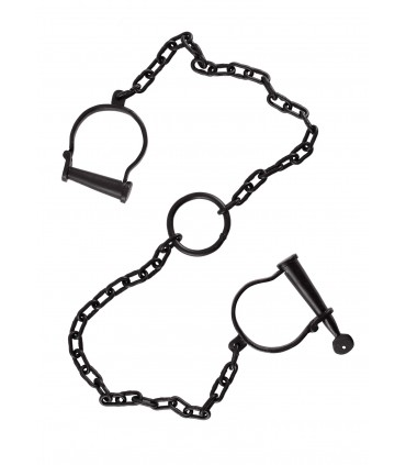 Handcuffs for feet with chain