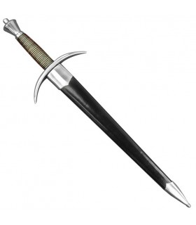 Functional medieval dagger with scabbard