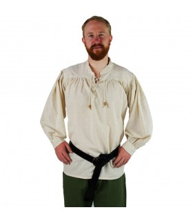 Medieval shirt with black ties