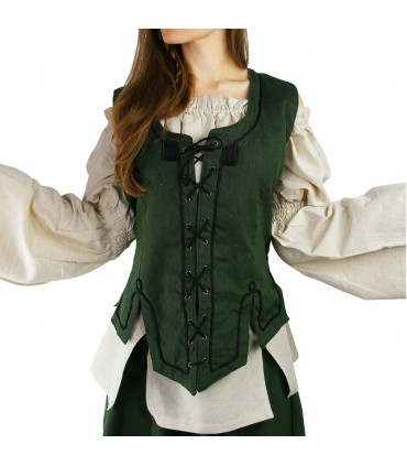 Medieval green woman vest