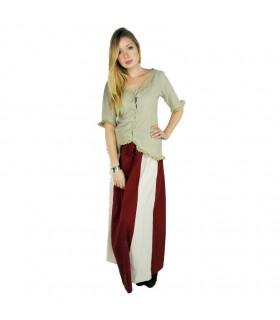 Medieval woman green skirt