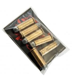 Set 6 bullets for revolver 45. USA 1880