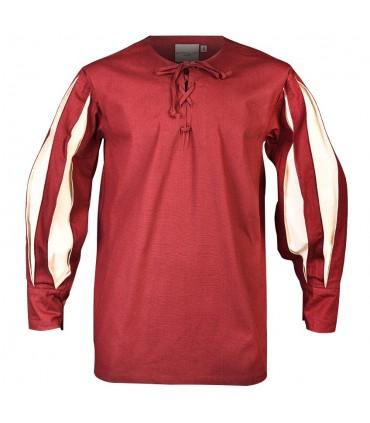 Burgundy-cream Toennes shirt
