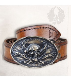Pirate belt in leather