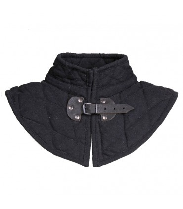 Padded gorget with buckle
