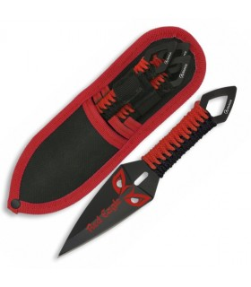 Set 3 Red Eagle throwing knives