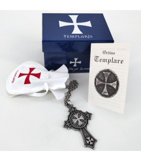 Colgante Cruz Templaria con cadena