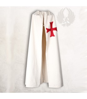 Medieval cloak with red anchor cross