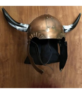 Helmet Viking with wings and horns