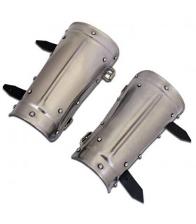 Protectores brazos guerrero medieval