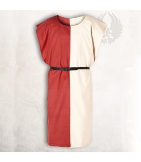 Sobrevesta medieval Ignaz, Rojo-Crema