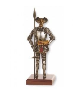 Miniatura Don Quijote con lanza y libro, 24 cms.