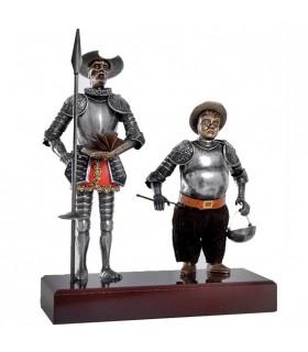 Miniatura Don Quijote y Sancho Panza, 24 cms.