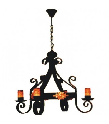 Chain forging lamp, 4 lights