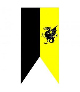 Estandarte medieval Bicolor Dragón